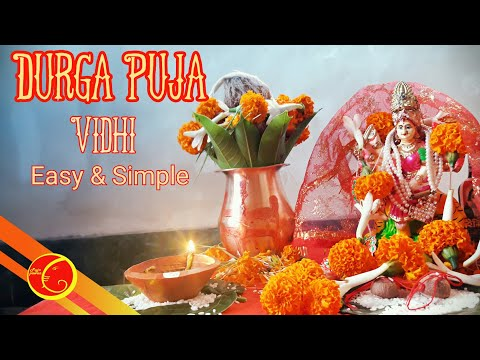 Durga Puja VIdhi and mantra easy and simple | Durga puja at home| how to perform Durga puja  at home