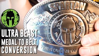 Spartan Race Ultra Beast Medal to Belt Buckle