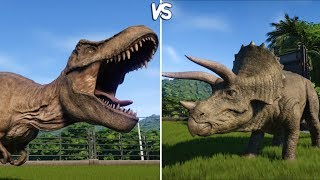 Jurassic World Evolution - T-REX vs TRICERATOPS - Gameplay (PS4 HD)...
