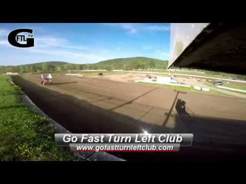 Dustin Purdy @ Five Mile Point Speedway - Flag Stand - CRSA Heat Race - 6/13/15 - GoPro Hero 4