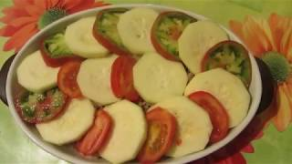 Запеканка с фаршем, овощами и тертым сыром НА КЕФИРЕ !