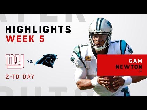 Cam Newton's 2-TD Day vs. Giants