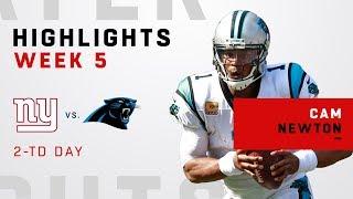 Cam Newton Highlights vs. Giants