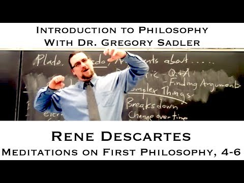 an argument in favor of the existence of god in descartes meditation on first philosophy Start studying philosophy 100 final learn vocabulary, terms, and more with flashcards, games, and other study tools.