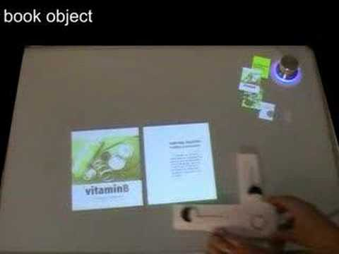 Vitamin B - interactive table and tangible interface