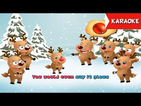 Rudolph the Red Nosed Reindeer Karaoke | Merry Christmas Songs