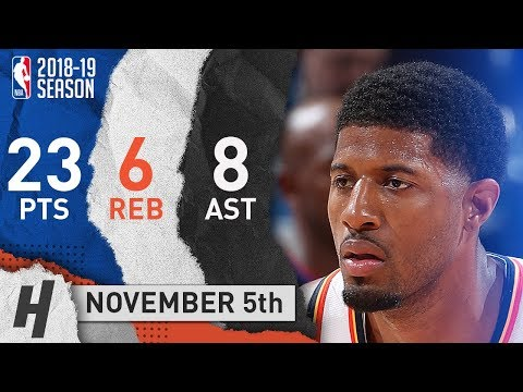 Paul George Full Highlights Thunder vs Pelicans 2018.11.05 - 23 Pts, 8 Ast, 6 Rebounds!