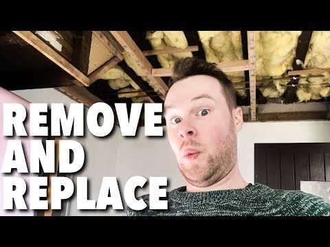 dropped-false-ceiling---how-to-remove-and-replace-with-plasterboard-or-drywall