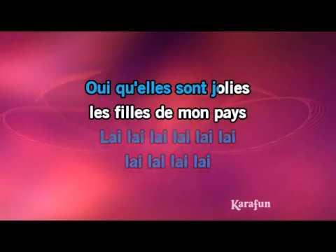 Karaoké Les Filles de mon pays - Enrico Macias *