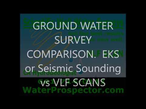 LOCATE WELL WATER,  Seismic method vs VLF scan