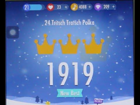 Piano Tiles 2 Tritsch Tratsch Polka World Record High Score 1919 Piano Tiles 2 Song 24