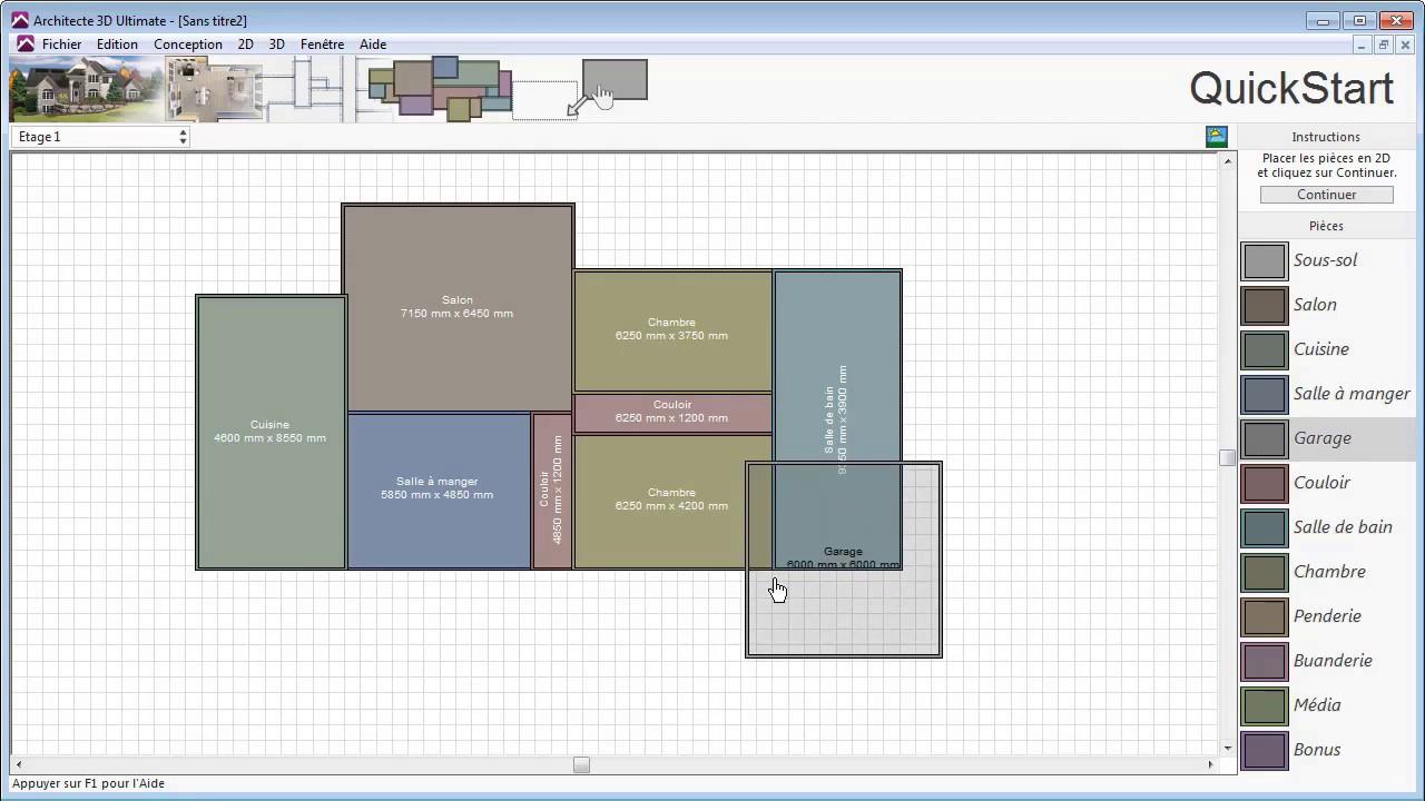 Architecte 3d d finir les murs youtube for Architecte 3d hauteur mur
