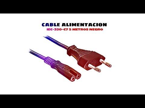 Video de Cable de alimentacion IEC-320-C7 5 M Negro