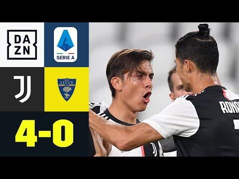 Dybala erneut stark! Juventus zündet spät, dafür aber richtig: Juventus - Lecce 4:0   Serie A   DAZN