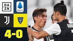 Dybala erneut stark! Juventus zündet spät, dafür aber richtig: Juventus - Lecce 4:0 | Serie A | DAZN