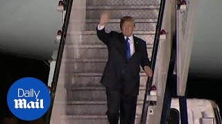 Trump arrives in Singapore for the summit with North Korea