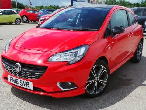 2016 16 vauxhall corsa 1 4 16v turbo 150ps red edition 3dr in flame red demo youtube. Black Bedroom Furniture Sets. Home Design Ideas