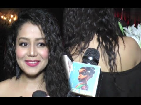 Neha Kakkar Hot In Off Shoulder At Sargun Mehta Birthday Party 2017