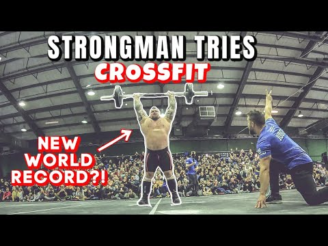 Strongman Tries CrossFit | WORLD RECORD ft Eddie Hall