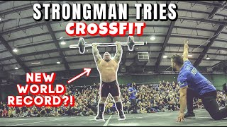 Strongman Tries CrossFit | WORLD RECORD ft Eddie Hall