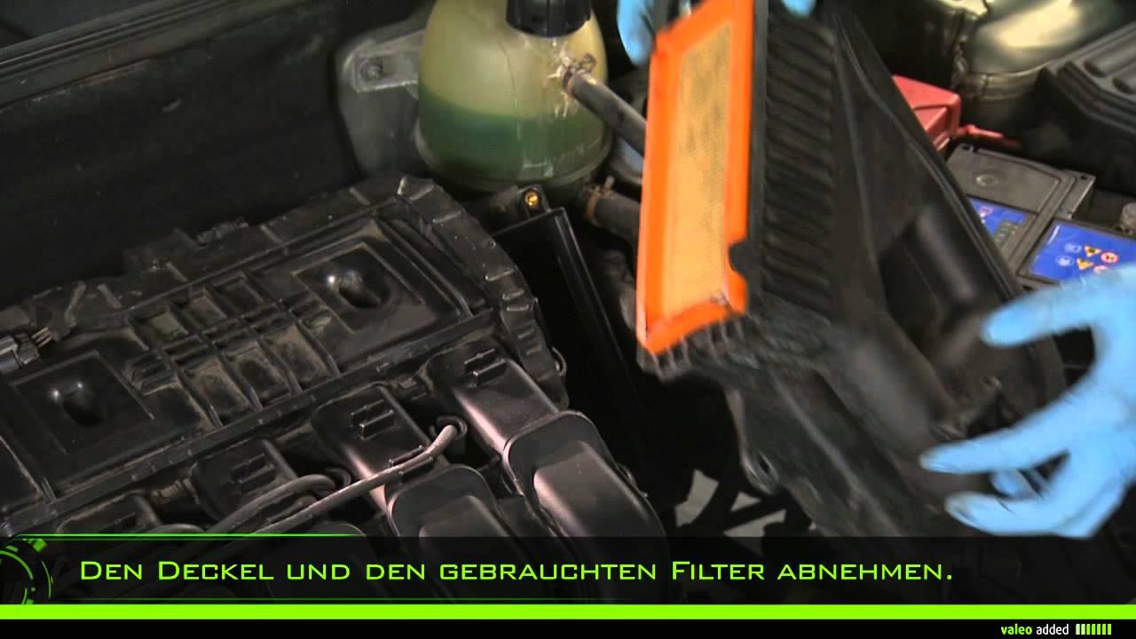 Valeo Luftfilter Montage Eines Flachen Luftfilters Youtube