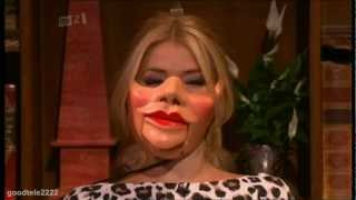 """""""the mask of sorrow"""" one the funniest ever parts celebrity juice! amir khan trying to guess holly impressions provided by keith lemon & a special messa..."""