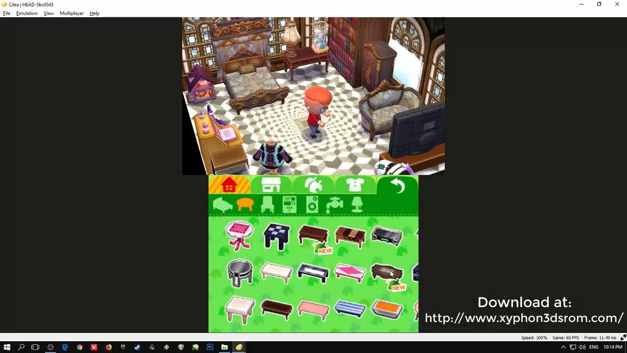 Animal Crossing Happy Home Designer runs 60fps in Citra Emulator