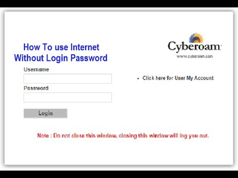 How To Use Bypass Internet Without Cyberoam Login Password