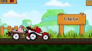 Мультик ИГРА для детей про ЭНГРИ БЕРДС гонки. Птички энгри бердз катаются на машине ANGRY BIRDS GO