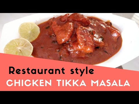 Chicken Tikka Masala Recipe | Restaurant Style | English and Telugu Subs