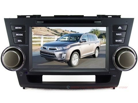 YZG FOR 2008-2012 TOYOTA Highlander Car DVD Player GPS Navigation In-dash Stereo Radio System