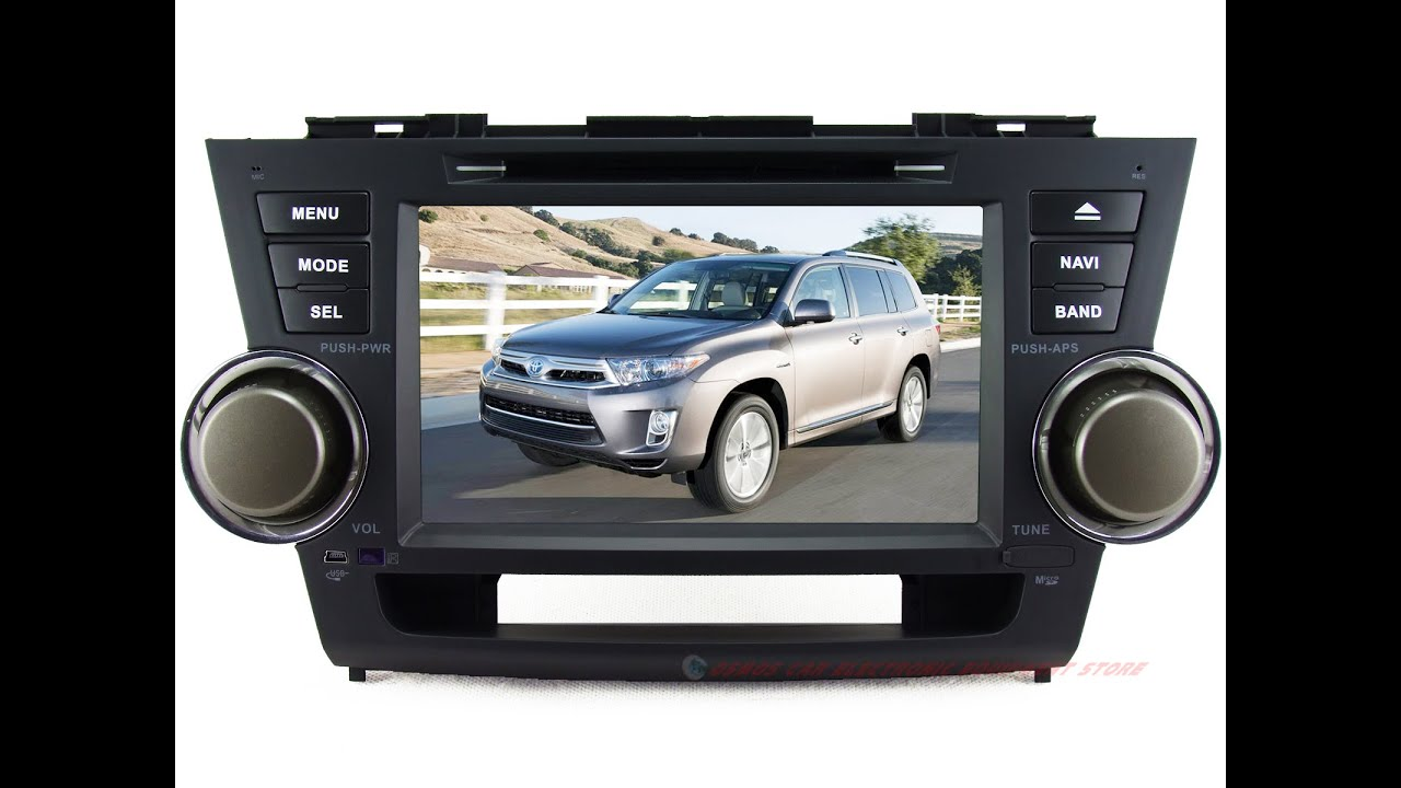 Yzg For 2008 2017 Toyota Highlander Car Dvd Player Gps Navigation In Dash Stereo Radio System