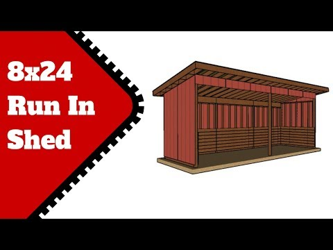 Run in Shed Plans 8x24