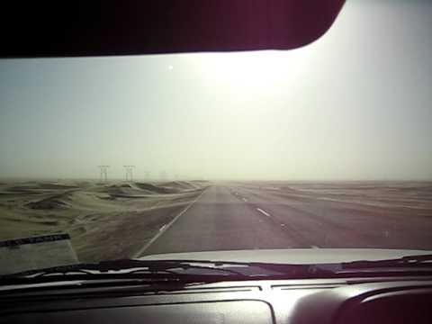 Driving into Walvis bay