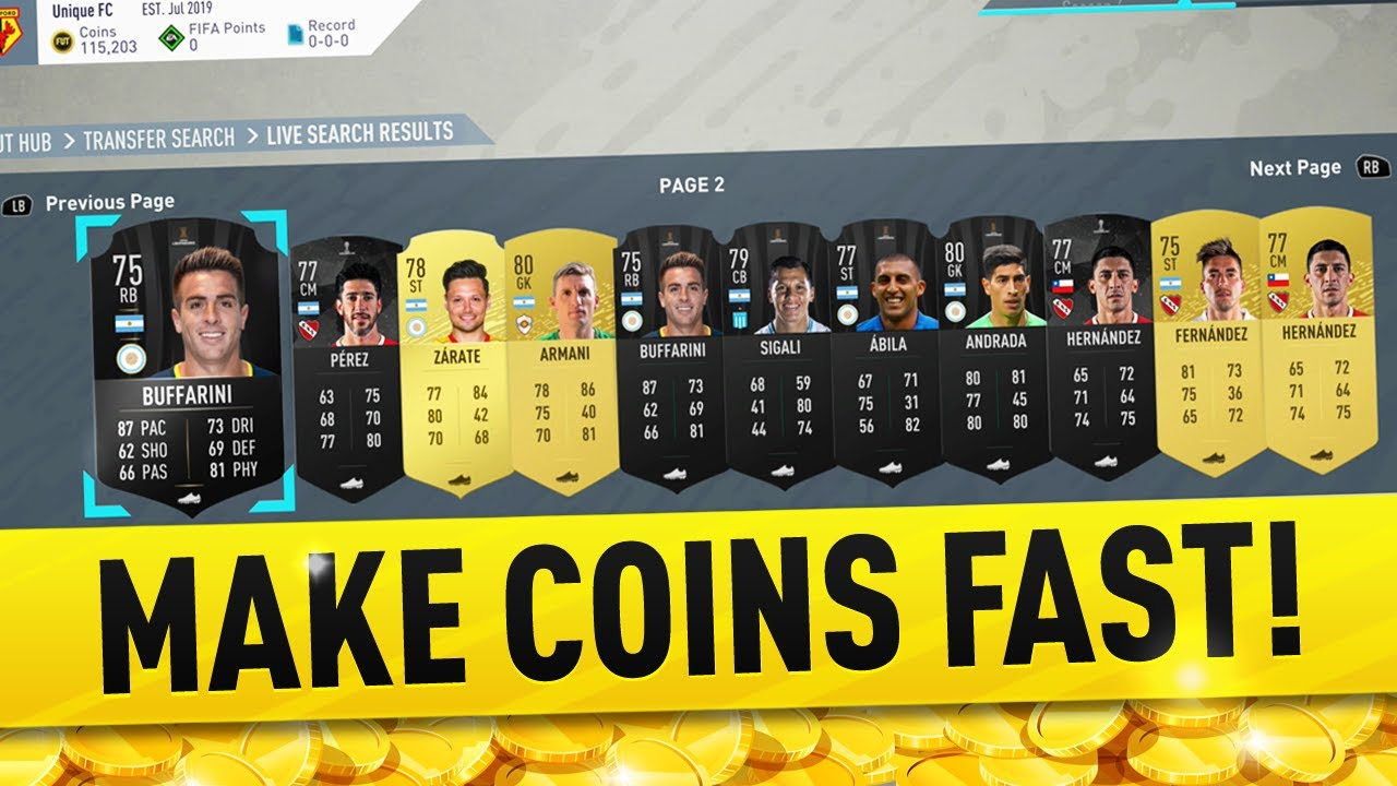 HOW TO MAKE COINS FAST ON FIFA 20 RIGHT NOW! FIFA 20 TRADING TIPS 1