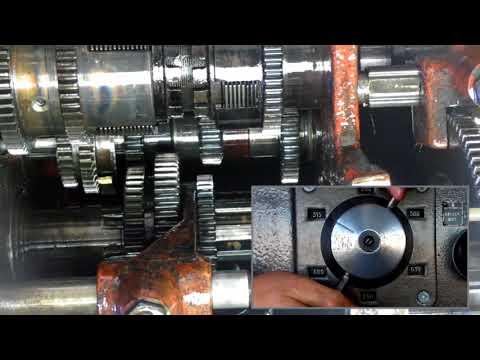 Настройка оборотов коробки передач токарно-винторезного станка 1К62.