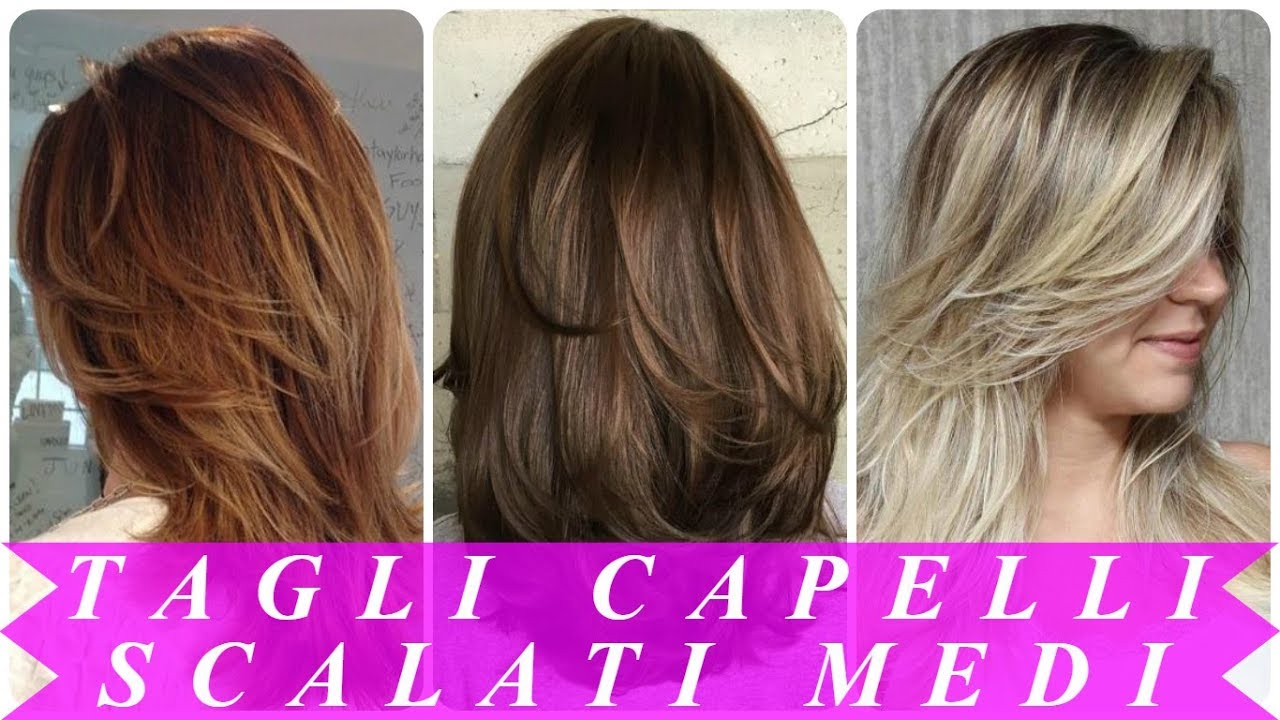 Tendenze pettinature capelli medi scalati 2018 - YouTube
