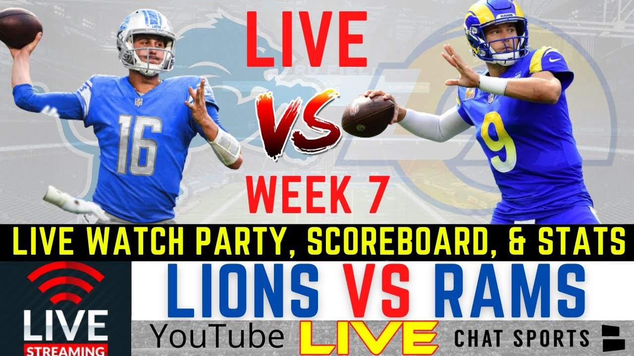 Rams vs. Lions score: Live updates, game stats, highlights, TV ...