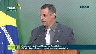 Porta-Voz da Presidência da República, Otávio Rêgo Barros, conversa com a imprensa