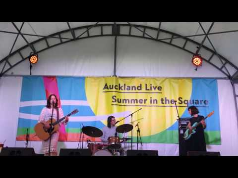"""Tiny Ruins, """"She'll Be Coming Around"""", Live at Aotea Square, Auckland, New Zealand"""