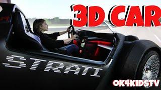 Drove 3D car at Seattle Living Computer Museum - ok4kidstv video 270