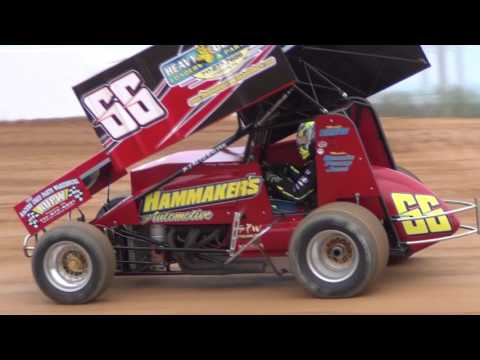 Trail-Way Speedway 358 Sprint Car Highlights 4-22-16