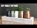 DIY Wooden Box Tray Mason Jar Table Decor