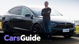 Tesla Model X P90D 2017 review | road test video