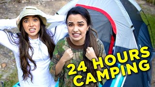 Download 24 Hour Overnight Camping Challenge in Our Back Yard - Merrell Twins Mp3 and Videos