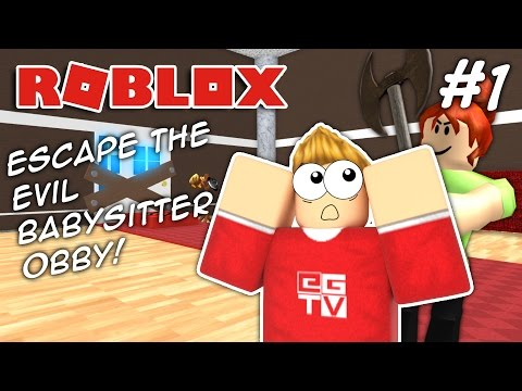 ESCAPE THE EVIL BABYSITTER!! #1 | ROBLOX Obby