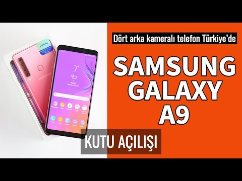Samsung Galaxy A9 Kutu Açılımı