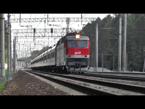 Электровоз ЧС7-245 с поездом № 101 Ярославль - Москва