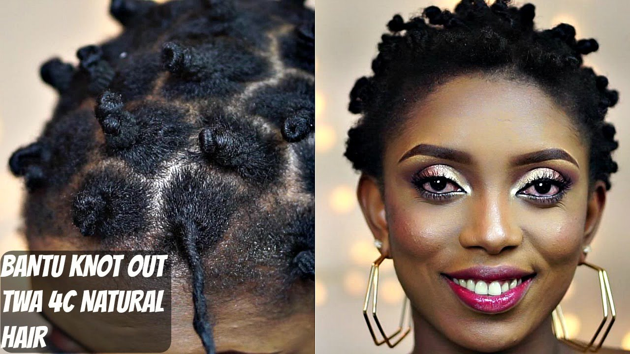Bantu Knot Out On T W A 4c Natural Hair Youtube