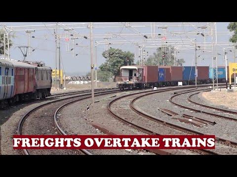Honking Freights Overtake Passenger Trains
